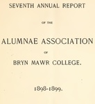 Annual Reports of the Alumnae Association of Bryn Mawr College, 1898-1901