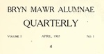 Bryn Mawr Alumnae Quarterly, 1907-1909 by Bryn Mawr College, Alumni Association