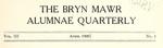Bryn Mawr Alumnae Quarterly, 1909-1911