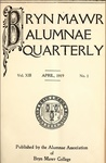 Bryn Mawr Alumnae Quarterly, 1919-1921 by Bryn Mawr College, Alumnae Association