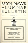 Bryn Mawr Alumnae Bulletin, 1921 by Bryn Mawr College. Alumnae Association