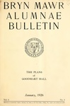 Bryn Mawr Alumnae Bulletin, 1926 by Bryn Mawr College. Alumnae Association