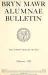Bryn Mawr Alumnae Bulletin, 1929 by Bryn Mawr College. Alumnae Association