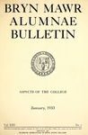 Bryn Mawr Alumnae Bulletin, 1933 by Bryn Mawr College. Alumnae Association