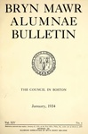 Bryn Mawr Alumnae Bulletin, 1934 by Bryn Mawr College. Alumnae Association