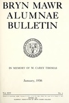 Bryn Mawr Alumnae Bulletin, 1936 by Bryn Mawr College. Alumnae Association