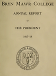Bryn Mawr College Annual Report , 1917-18.