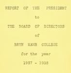 Bryn Mawr College Annual Report , 1937-38