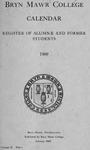 Bryn Mawr College Undergraduate College Catalogue and Calendar, 1909