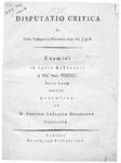 Disputatio critica de loco Symposii Platonis cap. VII, v. 5. 6.: Examini in Lyceo Gubenensi d. XXX. Octbr. CDDCCC