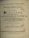 Variae lectiones et observationes in Taciti Germaniam
