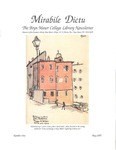 Mirabile Dictu: The Bryn Mawr College Library Newsletter 1 (1997) by Bryn Mawr College Library