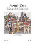 Mirabile Dictu: The Bryn Mawr College Library Newsletter 4 (2000) by Bryn Mawr College Library
