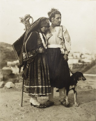 Wedding Portrait of Georg and Faltaina von Peschke, Skyros