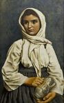 Girl with Pitcher by Georg von Peschke